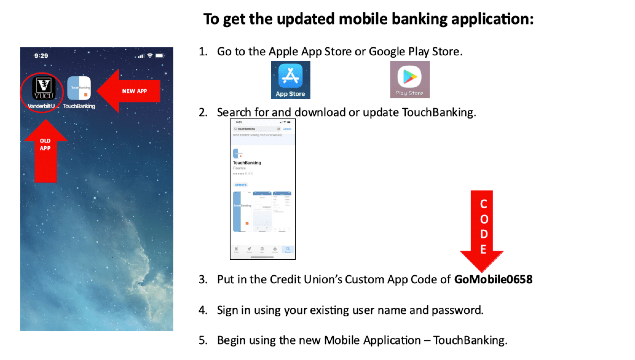 touchbanking how-to vucu